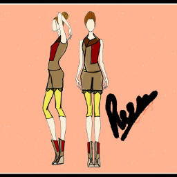 my sketch drawing design outfits