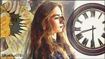 freetoedit picsart layers woman clock