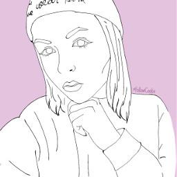 followcookie draw selfie girl people