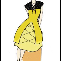 my sketch drawing dress art