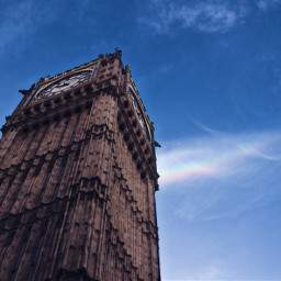 freetoedit bigben london rainbow clouds
