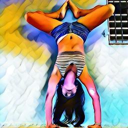 colorful yogalove