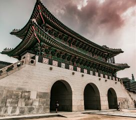 wppsky korea temple clouds ancient