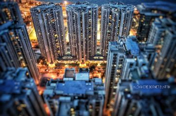 rooftop terrace city tiltshift nightphotography