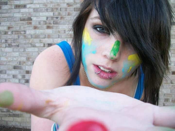 #FreeToEdit  #colorful  #facepaint  #shorthair  #girl  #lady  #woman  #young  #hand  #reachingout