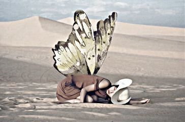 freetoedit cute emotions butterfly wings