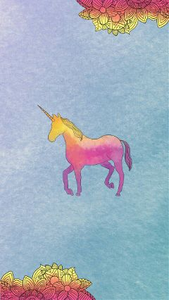unicorn unicornpower ombre pink yellow
