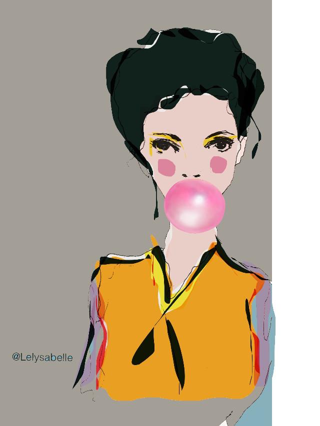 My #drawing #wppBubbleGum #portrait #girl #art #sketch #illustration