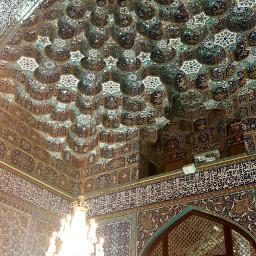 photo iran mashhad ceiling holy_place