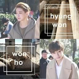 2won hyungwonho monsta_x kpop otp freetoedit