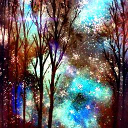 interesting art sky galaxy nature