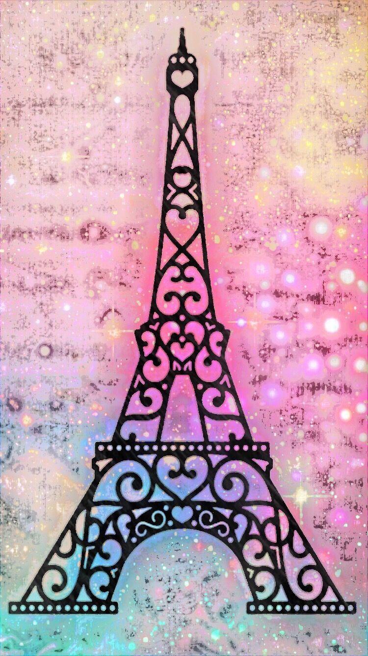 Eiffel tower glitter. Eiffeltower paris sparkle galaxy