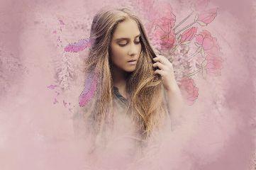 freetoedit walkingoutofthemist pink feathers beautiful