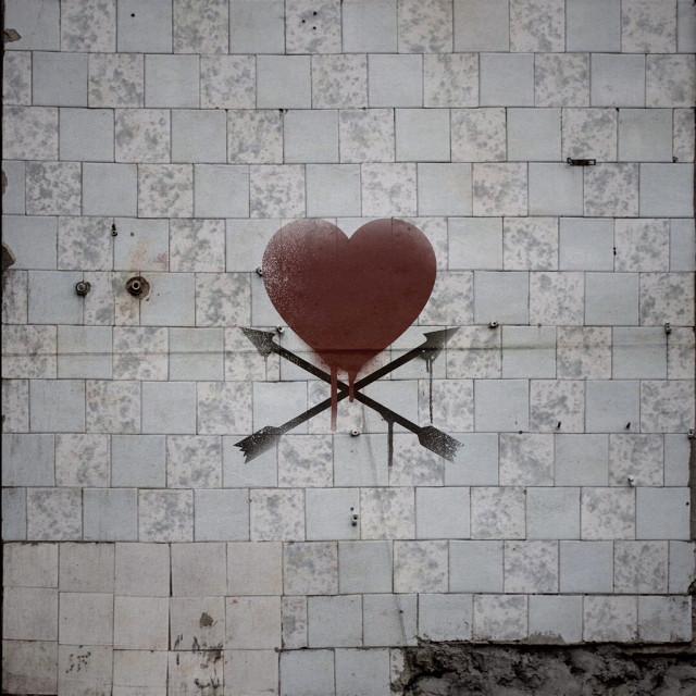 #FreeToEdit #hearts #photography #abondoned #graffiti #wallart #wall #picsart