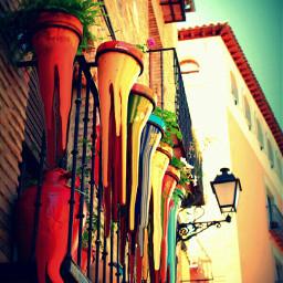 wapmelting colorful flowerpots