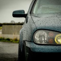 car vwgolf vw volkswagen friendscar photography rain motor