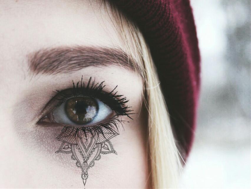 #FreeToEdit  #remix  #remixed  #eye  #girl  #winter