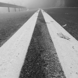 road line blackandwhite