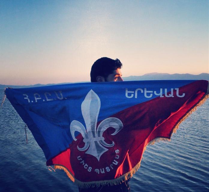 AGBU Scout Yerevan Flag at Sevana Lidj #madewithpicsart #snapshot #agbu110