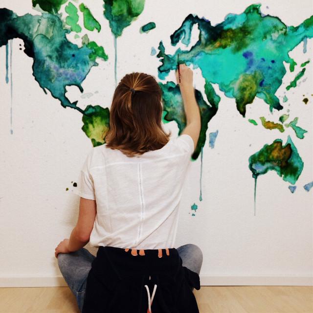 #art #interesting #world #green #drawing #aquarell #newroom #people #FreeToEdit